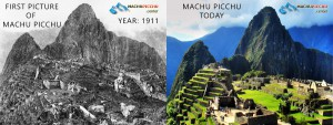 first picture of Machu Picchu